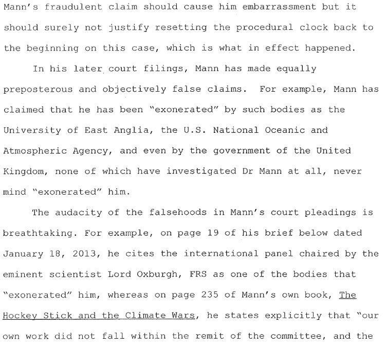 Steyn\'s scorching new legal brief on the Michael Mann \'defamation ...