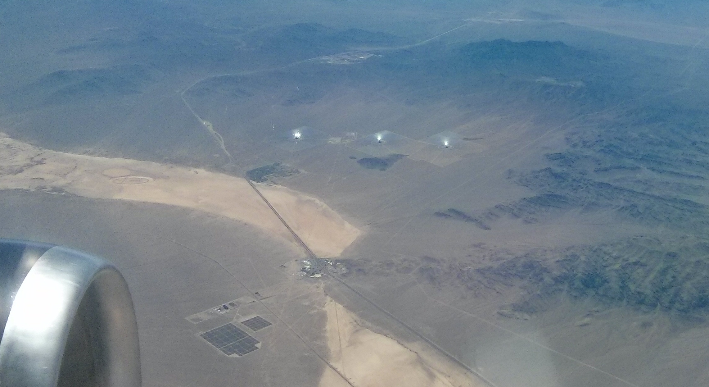 A Birds Eye View Of The Bird Scorching Ivanpah Solar