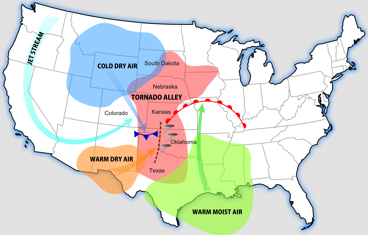 The impact of tornadoes on different states in america