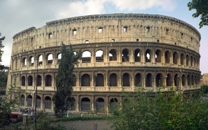 RomanColliseum-made of concrete and stone