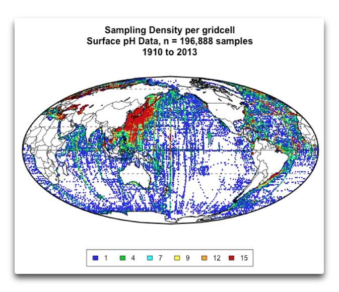 Sampling Density Map Surface pH