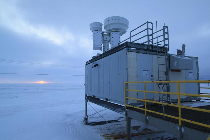The scientists used  spectroscopic instruments operated by the Department of Energy's Atmospheric Radiation Measurement (ARM) Climate Research Facility. This research site is on the North Slope of Alaska near the town of Barrow. They also collected data from a site in Oklahoma. (Credit: Jonathan Gero)