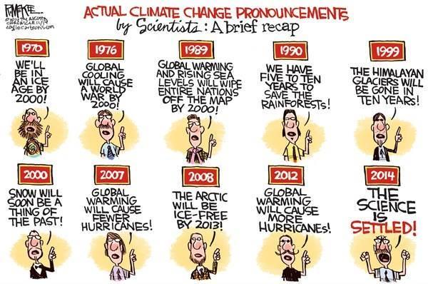 Image result for global warming predictions cartoon