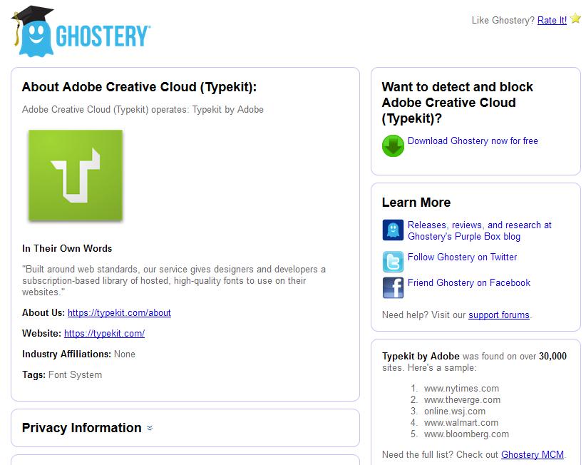 ghostery-rating-typekit