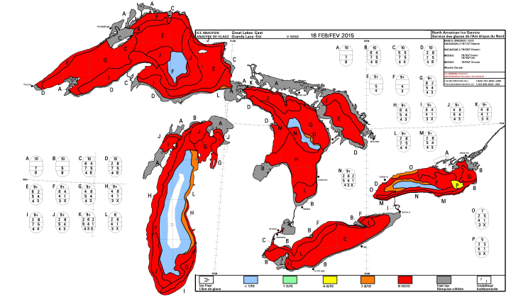 4 of the 5 Great Lakes about to freeze over Great-lakes-ice-feb18-2015