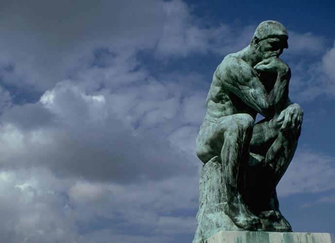 Rodin's 'The Thinker' at the Legion of Honor, San Francisco, California