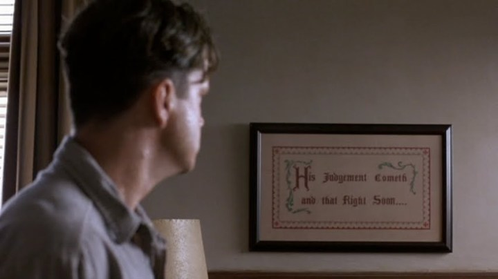 """Sceencap from a scene in the movie """"The Shawshank Redemption"""""""