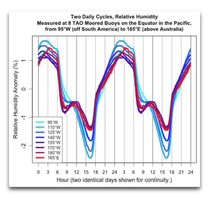 TAO daily cycles rel humidity anomaly