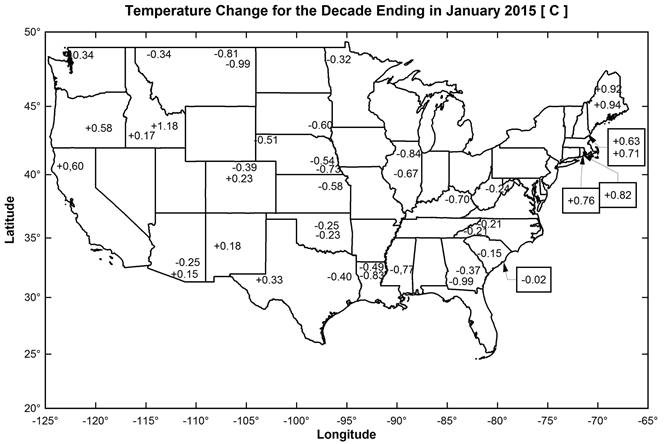 Monthly Average Temperatures Weathercom Summary Information State - Us temperature map abbreviations locations