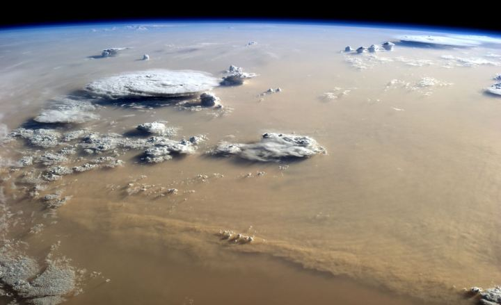 The photograph above was taken by astronaut Alex Gerst on September 8, 2014, from the International Space Station.