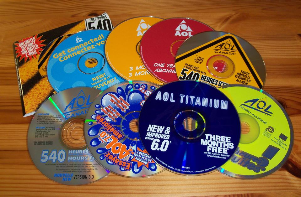 Internet archive project preserves aol trial cds from the 1990s.