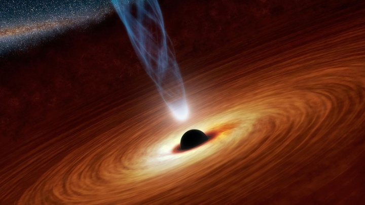 Black Holes: Monsters in Space (Artist's Concept). Public domain image originally created by NASA