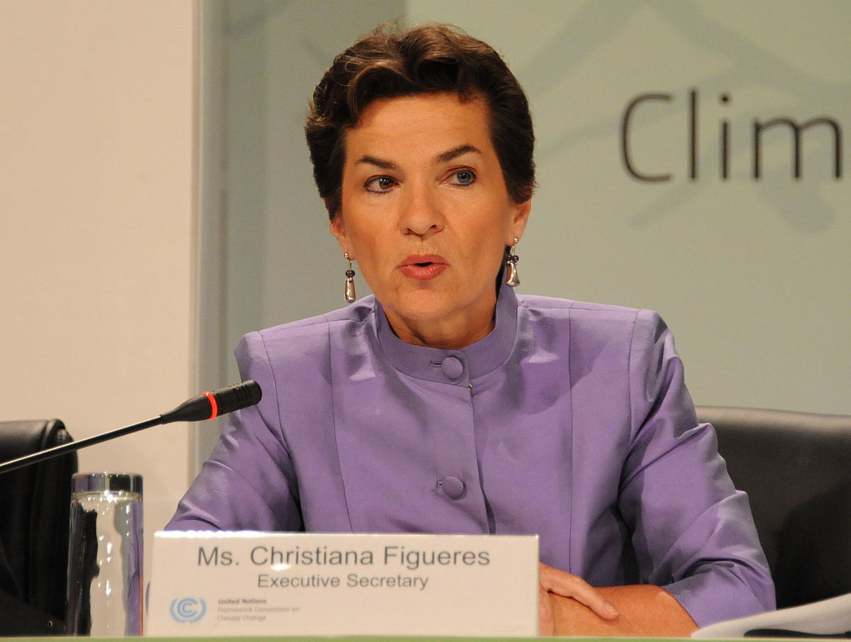 Christiana Figueres, Executive Secretary of the UNFCCC, at the COP17 in Durban, South Africa, author UNClimateChange, source Wikimedia