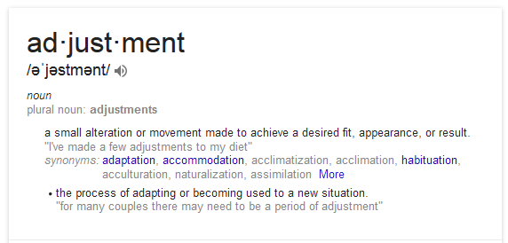 adjustment