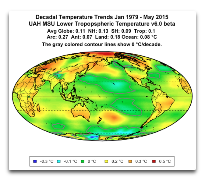 decadal temp trends uah msu tlt v6