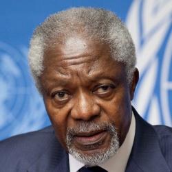 Kofi Annan. Public domain image, source Wikimedia.