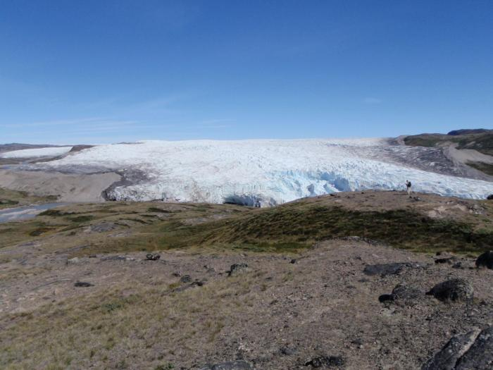 A study of the demise of the Laurentide Ice Sheet that once covered Canada may help scientists better understand shrinking ice fields today -- like this melting ice margin in Greenland. CREDIT Courtesy of Oregon State University