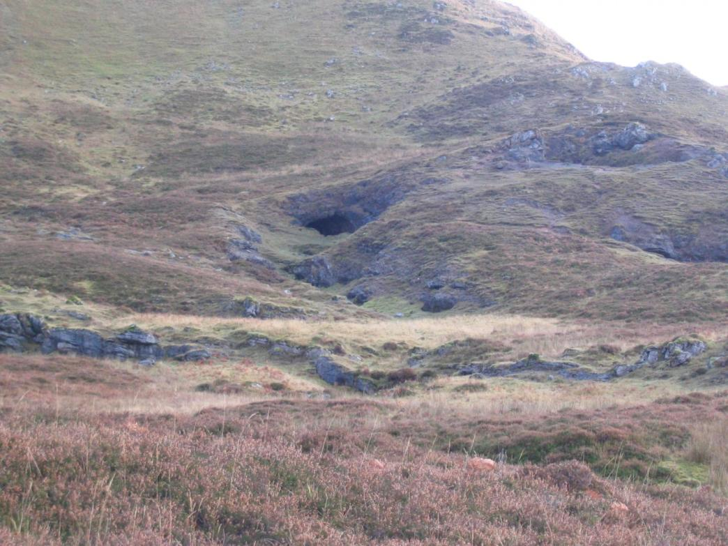 Roaring Cave in Scotland. A study of its limestone has produced a unique 3000-year-long record of climatic variations that may have influenced historical events including the fall of the Roman Empire and the Viking Age of expansion. Credit: Courtesy of UNSW