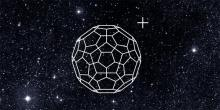 Ionized Buckminsterfullerene (C60+) is present at the gas-phase in space. Credit: University of Basel
