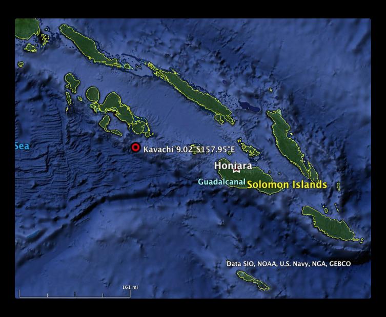 Google Earth kavachi volcano