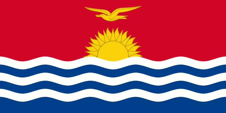 National flat of Kiribati, public domain image source Wikimedia