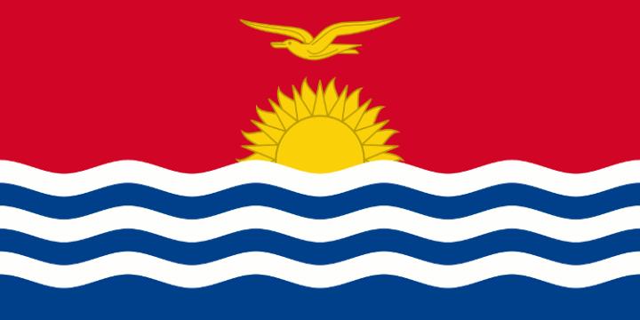 National flag of Kiribati, public domain image source Wikimedia