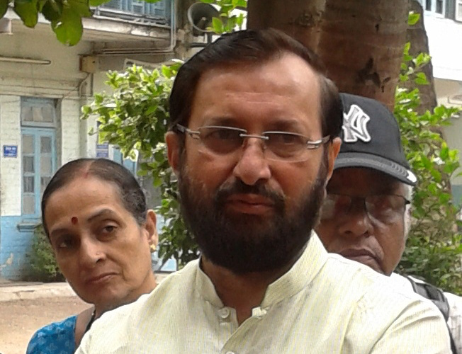 Indian environment minister Prakash Javadekar, author Mvkulkarni23, attribution license, source https://en.wikipedia.org/wiki/File:Prakash_Javadekar01.jpg