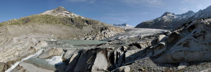 This is the Rhone Glacier in June 2014. CREDIT Simon Oberli