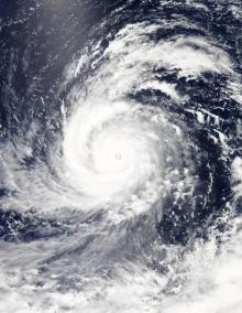 On Aug. 4, 2015, at 4:10 UTC (12:10 a.m. EDT) the MODIS instrument aboard NASA's Aqua satellite captured this visible-light image of Super typhoon Soudelor. CREDIT Credits: NASA Goddard's MODIS Rapid Response Team