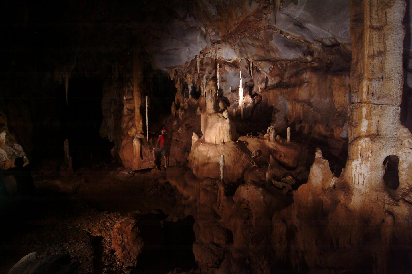 This is the room in the cave where the scientists obtained the stalagmite used in the research CREDIT Raf Rios