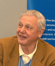 Photograph of David Attenborough at ARKive's launch in Bristol, England, author Wildscreen https://commons.wikimedia.org/wiki/File:David_Attenborough_(cropped).jpg