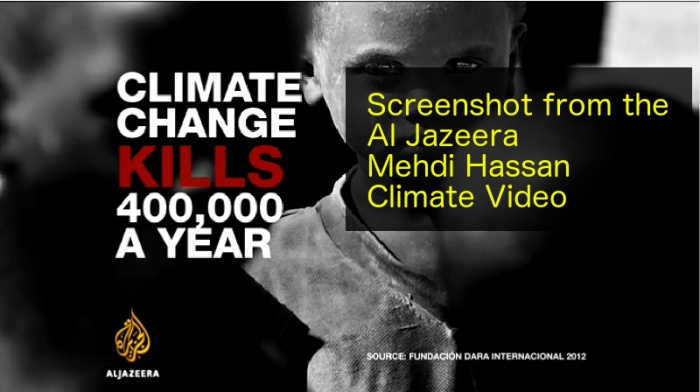 "Outrageous claim from Al Jazeera about climate ""denial"""