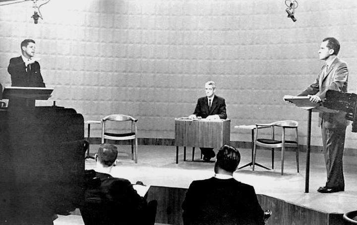 First Presidential Debate 1960, public domain image, source Wikimedia.