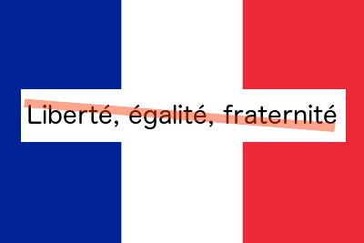Liberté, égalité, fraternité - except when it comes to climate change