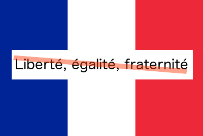 Liberté, égalité, fraternité - except when it comes to climate change