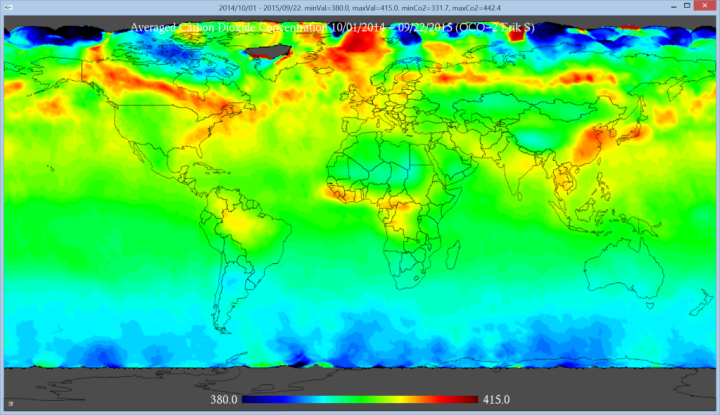 OCO2-1year-co2-globalmap