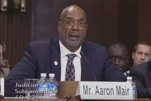 Sierra Club President Aaron Mair  before the Senate Judiciary Committee Tuesday October 6th, 2015