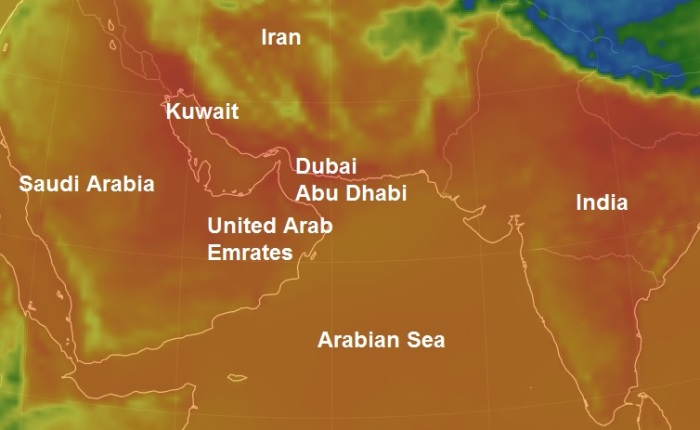 Claim: 170F (76c) Heat waves will make Persian Gulf