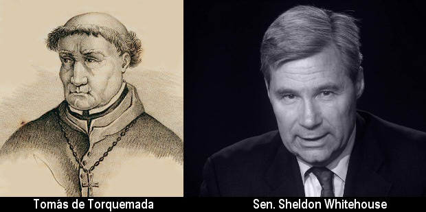 Sen  Sheldon Whitehouse reacts to 'Torquemada' essay | Watts Up With