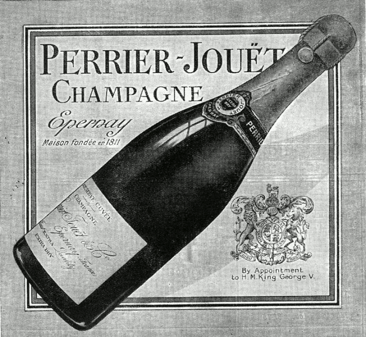 Perrier-Jouët advertisement of 1923