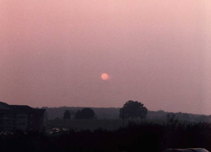 Sunset haze over State College-, PA source: NOAA SPC