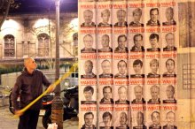 "The ""Wanted""-style posters went up in Paris late on Sunday. Credit Avaaz"