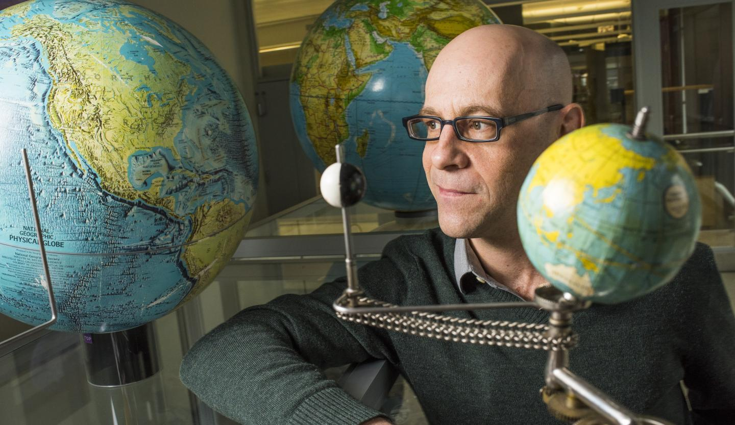 Mathieu Dumberry from the University of Alberta is one of only a few people in the world investigating changes in Earth rotation. CREDIT John Ulan for the University of Alberta