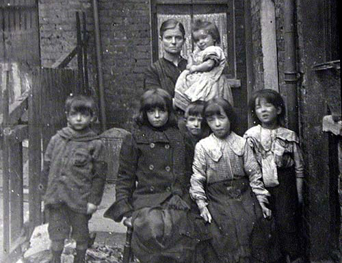 Impoverished British Family in London 1800s