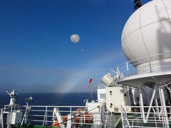 Radiosonde observations from RV Mirai over the ice-free Arctic Ocean. CREDIT Jun Inoue