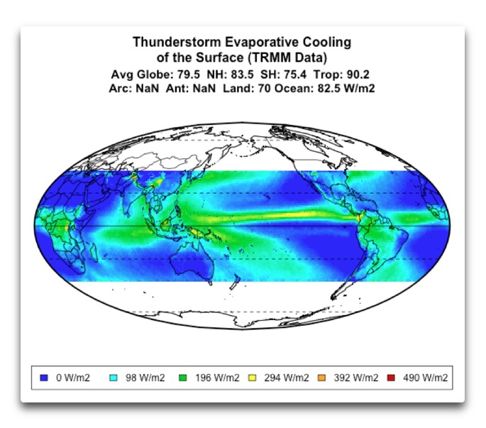 trmm annual average evaporative cooling