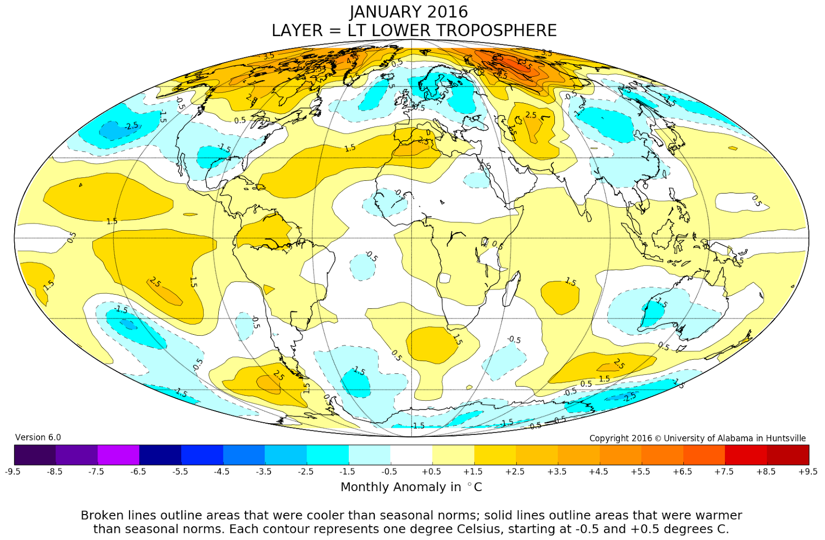 Warmest January In Satellite Record Leads Off Watts Up With - World map 2016 satellite