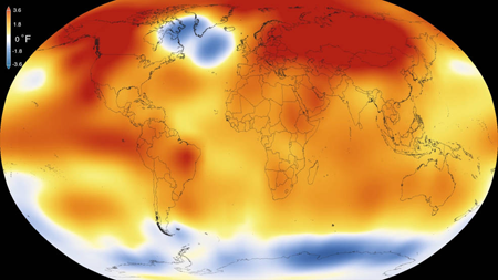 2015 was the warmest year since modern record keeping began in 1880, according to an analysis by NASA's Goddard Institute for Space Studies.