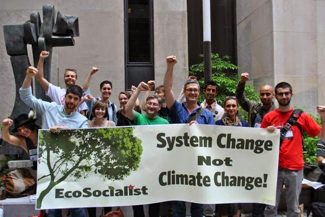"""A scene from the NYC """"peoples climate march"""" in September 2014"""