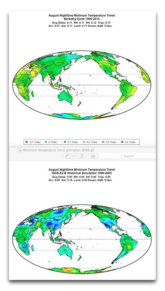 minimum temps berkeley earth and giss aug
